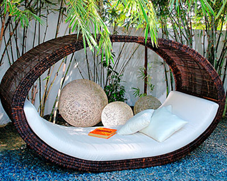 Adding a daybed or hammock to your outdoor living space gives a touch of  luxury, not to mention an amazing place to relax. The sky is the limit in  options. - 10 Cool Ideas For Outdoor Living Spaces - Laura And Kevin Fox